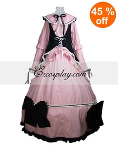 Cutton Long Sleeve with Cape Gothic Lolita Dress #EveryoneCanCosplay! #Cosplaycostumes #AnimeCosplayAccessories #CosplayWigs #AnimeCosplaymasks #AnimeCosplaymakeup #Sexycostumes #CosplayCostumesforSale #CosplayCostumeStores #NarutoCosplayCostume #FinalFantasyCosplay #buycosplay #videogamecostumes #narutocostumes #halloweencostumes #bleachcostumes #anime
