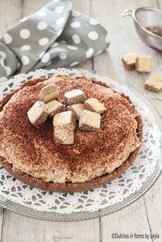 Torta con wafer e panna senza cottura e senza forno Cheesecake, Sweet Recipes, Tiramisu, Pasta, Cakes, Breakfast, Ethnic Recipes, Oven, Mascarpone