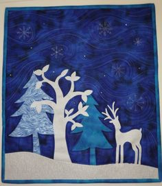 A Winter Silhouette mini quilt by Sarah Payne (UK)