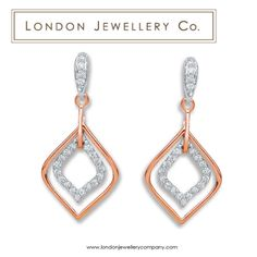 18ct #Rose #Gold 0.30ct #Diamond Drop #Earrings - #London #Jewellery Company