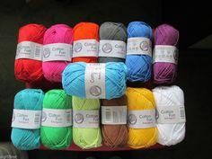 Häkelgarn, Schulgarn, Häkelwolle, Cotton Fun, 100% Baumwolle, 13 versch. Farben in Möbel & Wohnen, Hobby & Künstlerbedarf, Basteln   eBay