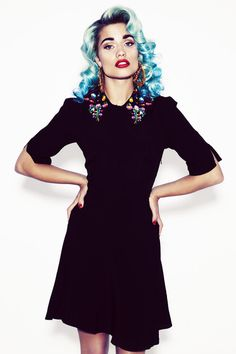 Coco Fennell- Mexican Flower dress. The collar is fab!