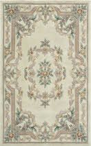 The New Aubusson collection is hand tufted in China with the finest wool yarn. Craftsmen have created a 16th Century European Aubusson center medallion with an open field and intricate floral border pattern named after a small artistic city in northern France.