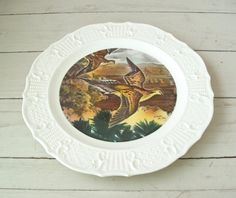 Mourning Doves Seagram Distillers Collectible Plate Artist Charles De Feo by lookonmytreasures on Etsy