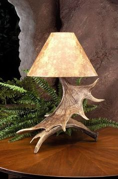 New 2 Moose Paddle Antler Table Lamp Lamps Rustic Antlers Decor Made in USA | eBay