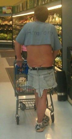 No Ifs, Ands, or Butts. Too Casual Men's Clothes at Walmart - Funny Pictures at Walmart