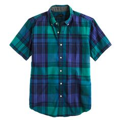 Indian cotton short-sleeve shirt in trellis vine plaid - short-sleeve shirts - Men's shirts - J.Crew