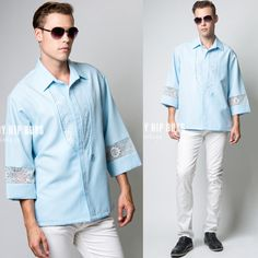 Men's Hawaiian shirt Men's 70s Top Men's by TrendyHipBuysVintage