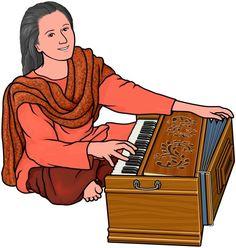 Harmonium player / World  musical instruments