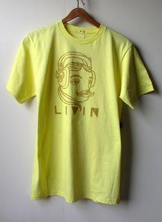 LIVIN  100 Percent Ringspun Cotton  Adult Medium Basic by themusta, $15.00