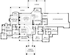 Country Style House Plan 7 Beds 600 Baths 6888 SqFt Plan 67 871