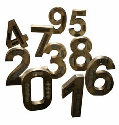 CHRISTMAS IN #HTFSYLE. Brass factory numbers. Shop here: www.hardtofind.com.au