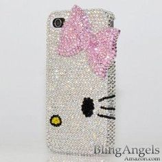 3D Swarovski Luxury Crystal Bling Case Cover for iphone 4 \  4s 100% Handcrafted by BlingAngels
