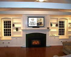 mantle  Traditional Family Room Fireplace With Shelves Design, Pictures, Remodel, Decor and Ideas - page 2