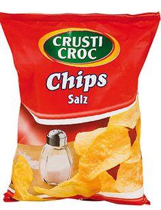 3/5  crusti croc: saltade chps med solrosolja. ca 8 kr 200 g..på lidl. tyvärr smaklösa och vädigt salta. bra tunn krispighet dock. när plånboken sviker.