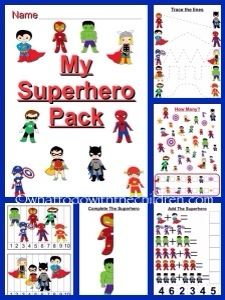 Free Princess and Superhero Packs. We Love Weekends