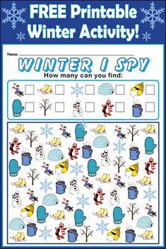 Winter I Spy - FREE Printable Activity!