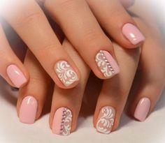 Lace Nail Art, Lace Nails, Pretty Nail Designs, Gel Nail Designs, Nails Design, Gel Nails, Nail Polish, Hair Doo, Nicole By Opi