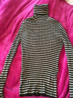 b253a496817d Dolce&Gabbana Brown Striped Womens Sweater Top Size 36IT 1 #fashion  #clothing #