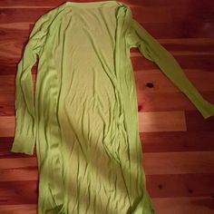 Selling this Lime colored semi-sheer long cardigan M in my Poshmark closet! My username is: mrsmrswilson. #shopmycloset #poshmark #fashion #shopping #style #forsale #Sweaters