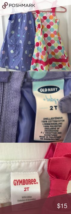 2T dress bundle 2T dress bundle. Purple/blue dress is from old navy. Multicolored is from Gymboree Gymboree Dresses