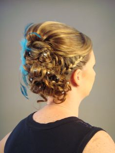 Photo was put in for a salon book for updo ideas.