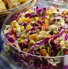 Crunchy Fruity Cabbage Salad  http://www.relish.com/recipes/crunchy-fruity-coleslaw/