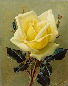 Jan Voerman jr. (Hattem 1890-1976 Blaricum) Yellow rose - Dutch Art Gallery Simonis and Buunk Ede, Netherlands.