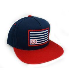 Flag Patch Snapback Cap by CIVIL  628988ac30f5