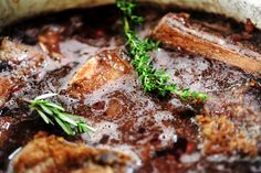 Short Ribs Recipe - Pioneer Woman - serve with creamy polenta