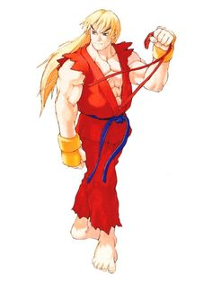 Ken Masters, Street Fighter Alpha 3 by mr. Street Fighter Alpha 3, Ken Street Fighter, Capcom Street Fighter, Street Fighter Desenho, Ken Masters, Alpha Art, World Of Warriors, Game Character Design, Character Concept