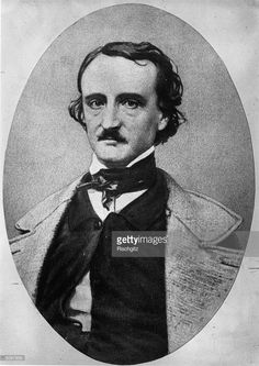 Author and poet Edgar Allan Poe (1809 - 1849). Pioneer of the modern detective story with 'The Murders in the Rue Morgue'.