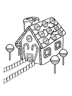 """free christmas coloring pages gingerbread house   72 Best iColor """"Gingerbread Houses"""" images in 2016 ..."""