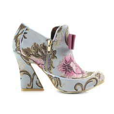 Womens-Irregular-Choice-Lovingly-Gazing-Mint-Pink-Shoes-Ankle-Boots-Shu-Size