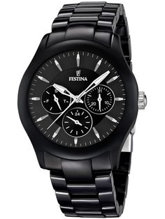 Festina Ceramic A distinctive feature of the watches is the focus on technology and design. Unisex Trends, Casio Watch, Omega Watch, Rolex Watches, Fashion Jewelry, Quartz, Shopping, Black, Jewellery