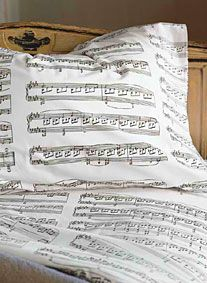music themed bedroom decor - How cool would it be if you could customize the sheets? like your favorite song? awesome!