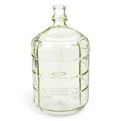 Botella decorativa de cristal verde H 28 cm GARDEN