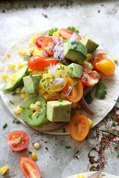 Fresh Corn and Summer Squash Tacos