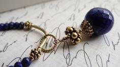 Handmade Lapis Lazuli 24k Gold Vermeil and by AngelWearDesigns2013
