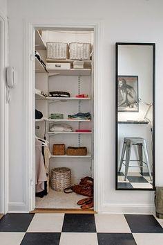 white walk in closet, small walk in closet ideas
