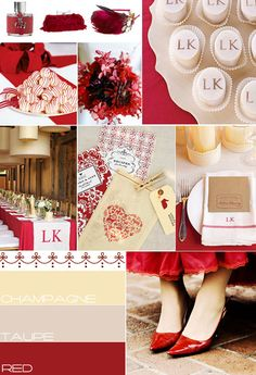 red champagne taupe wedding colour, wedding theme Ideas