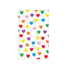 """Rainbow Hearts"" Light Switch Cover"