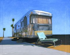 Leah Giberson, paintings and prints of trailers