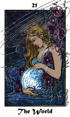 The World Tarot card - phantomrin Tumblr #tarotcardsart #tarotcardsdiy