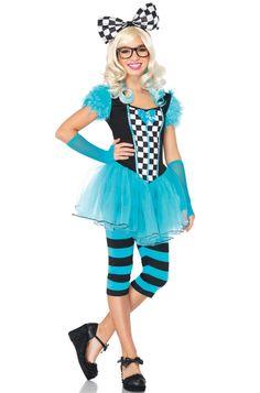 Hipster Alice Teen Costume #Halloween #costumes #aliceinwonderland