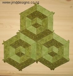 JMD Designs Tutorial- English Paper Piecing 3D Hexagon Design with ...
