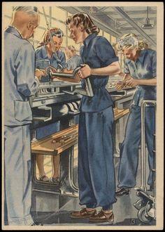 Image 1 of Germany WWII Frauen Schaffen fuer Euch Postcard