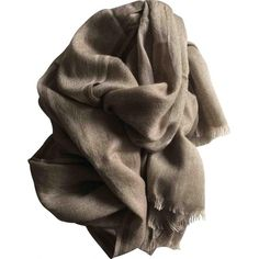 Pre-owned Loro Piana Cashmere Scarf (£205) ❤ liked on Polyvore featuring accessories, scarves, beige, loro piana, loro piana scarves, cashmere scarves and cashmere shawl