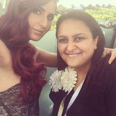 Katrina Kaif with a fan at Cannes 2015