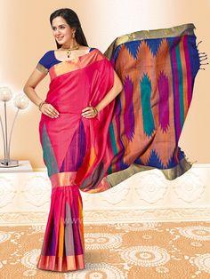 4619f3d9629d05 WSR28778 - Zari and Resham Hand Woven Saree. Blue BlousePure SilkCasual ...